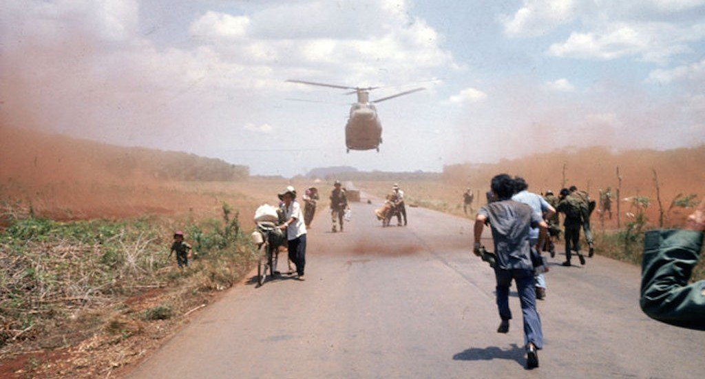 South Vietnamese fled Saigon in April 1975 with the help of the American military, as Communist forces from the north entered the city. Credit Dirck Halstead/Getty Images